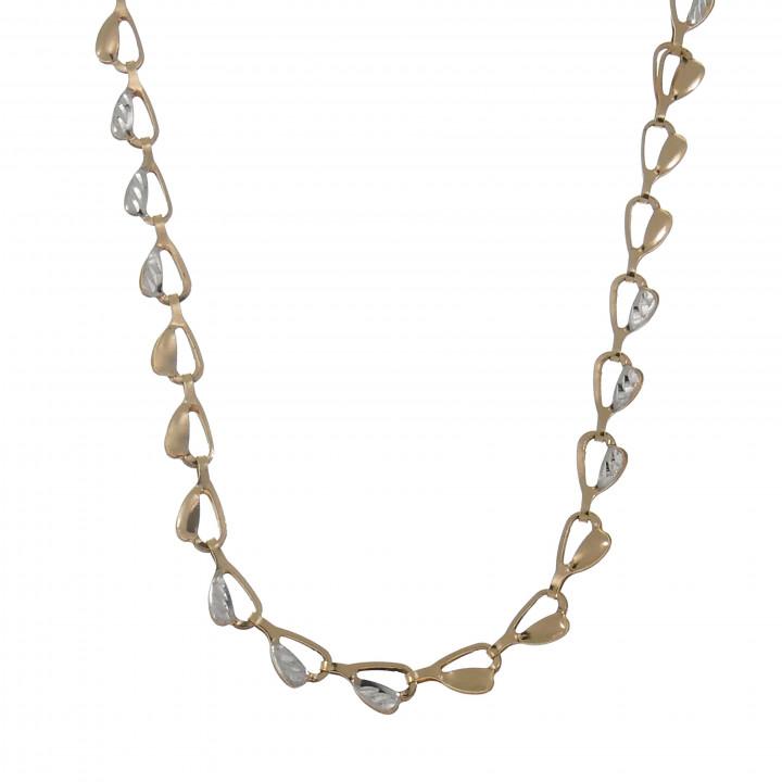 Женская цепочка, красное золото 14 карат, длина 55 см