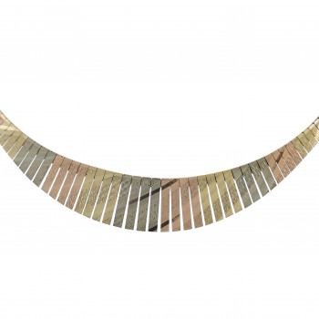 Necklace for a woman, yellow and red gold 14 k, length 42 cm