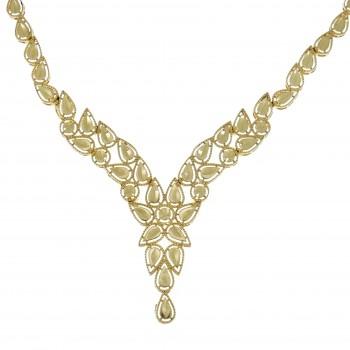 Колье для женщины, жёлтое золото 14 карат