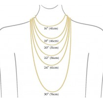 Chain for women with a pendant - eye, yellow gold, length 46 cm