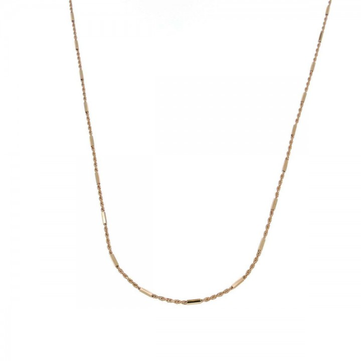 Chain for women, 14K red gold, length 44 cm