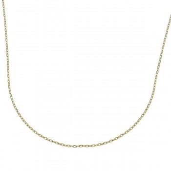 Цепочка для женщины, желтое золото, длина 40 см