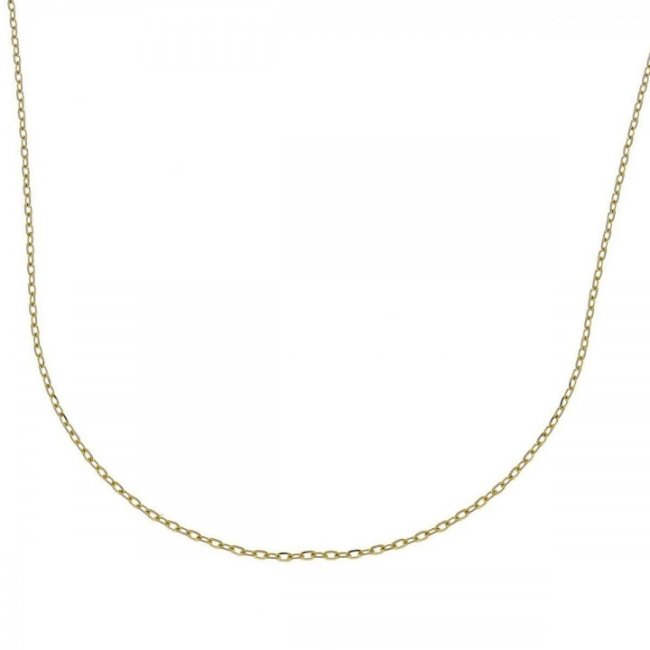 Chain for women, yellow gold, length 40 cm