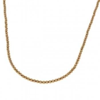 Цепочка для женщины, желтое золото, длина 47 см