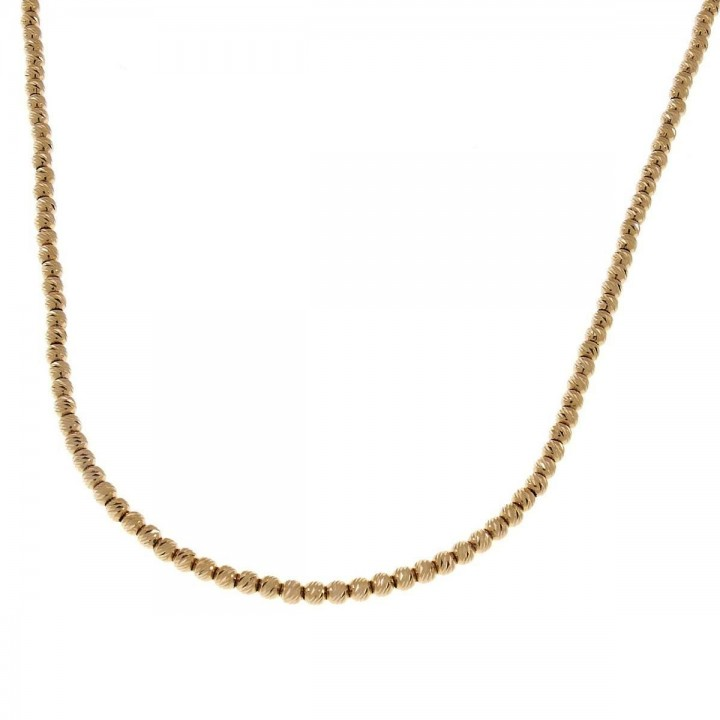 Chain for woman, yellow gold, length 47 cm