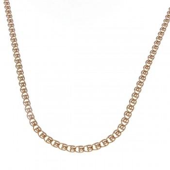Цепочка для женщины, желтое золото 14 карат, длина 55 см
