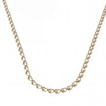 Цепочка для женщины, желтое золото 14 карат, длина 56 см