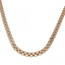 Цепочка для женщины, желтое золото 14 карат, длина 42 см