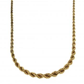 Цепочка для женщины, жёлтое золото 14 карат, длина 52 см