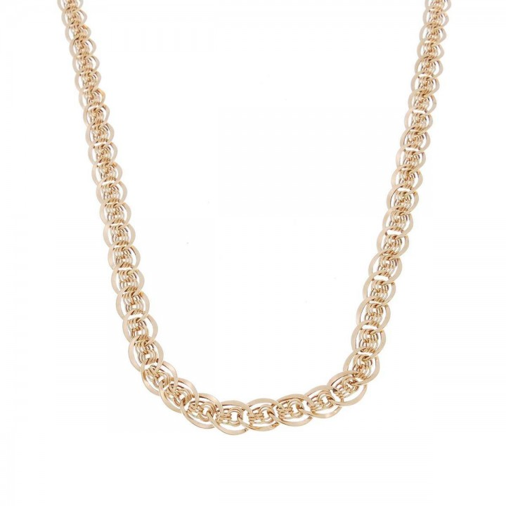 Chain for woman, red gold, length 48 cm