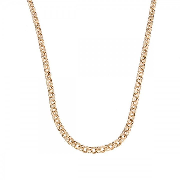 Chain for woman Bismarck, red gold, length 64 cm