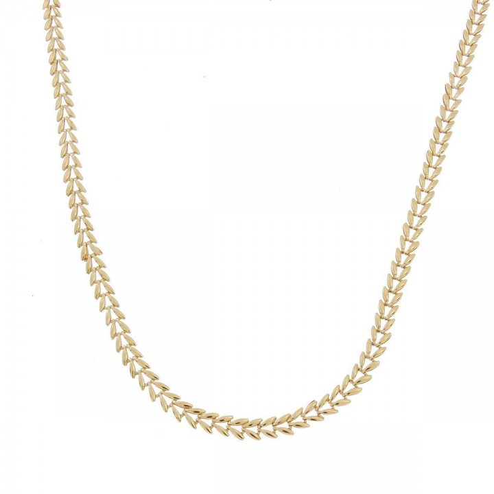 Chain for woman, red gold, length 54 cm