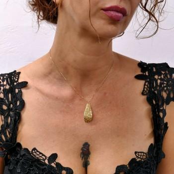 Колье для женщины, жёлтое золото 14 к, длина 46 см