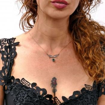 Цепочка для женщины с кулоном, красное золото 14к, длина 48 см