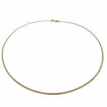 Necklace for a woman, 14 k white and yellow gold, diameter 13 cm