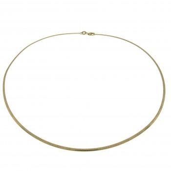 Колье для женщины, белое и жёлтое золото 14 к, диаметр 13 см