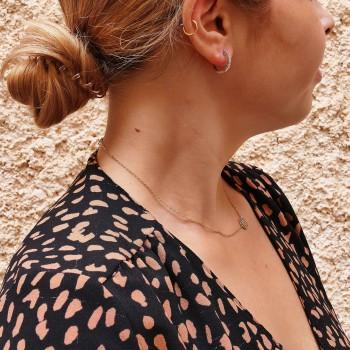 Круглые серьги для женщины, белое золото 14 карат