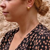 עגילים לאישה, זהב צהוב, 14K