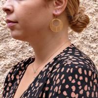 Круглые серьги для женщины, жёлтое золото 14 карат