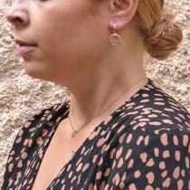 עגילים לאישה, זהב אדום 14 קראט
