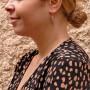 Drop earrings for woman, red gold 14k