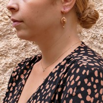Earrings for a woman, red gold, 14K