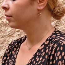 עגילים לאישה, זהב אדום, 14K