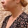 Висячие серьги для женщины, красное золото, 14 карат