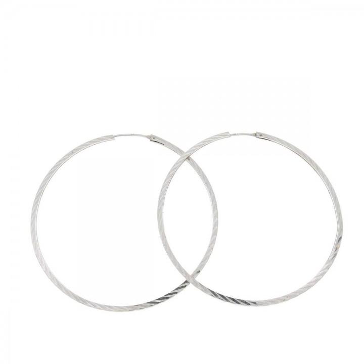 Earrings for a woman. 14K white gold, diameter 5 cm