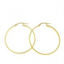 Серьги для женщины. Желтое золото, 585,  диаметр 3 см