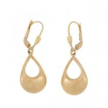 Earrings for women. Red gold, 585, length - 3 cm