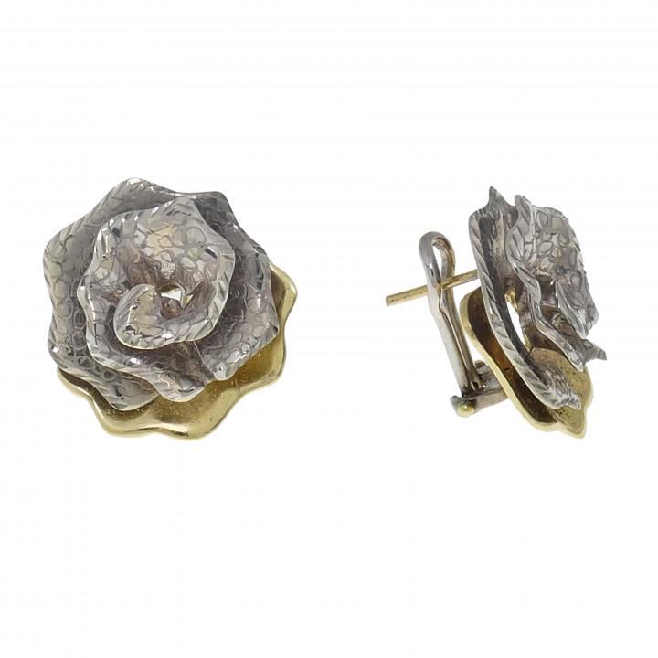 Женские серьги - роза
