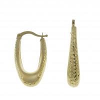 Серьги для женщины, жёлтое золото 14 карат, длина 3 см