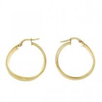 Серьги для женщины. Желтое золото, 585,  диаметр - 2 см