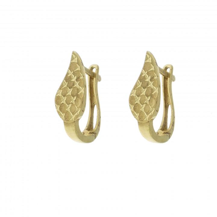 Золотые серьги - листья