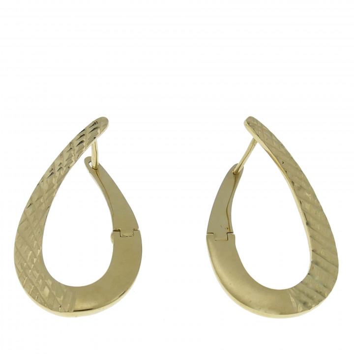 Золотые серьги - капли