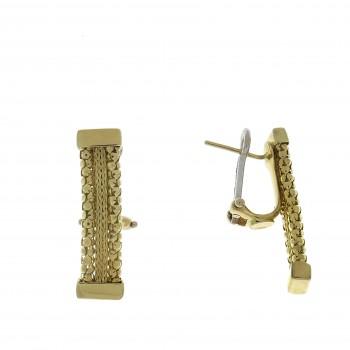 Серьги для женщины, красное золото, 14 карат