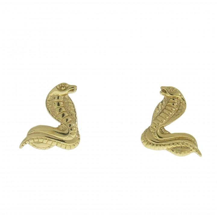 Золотые серьги - змея
