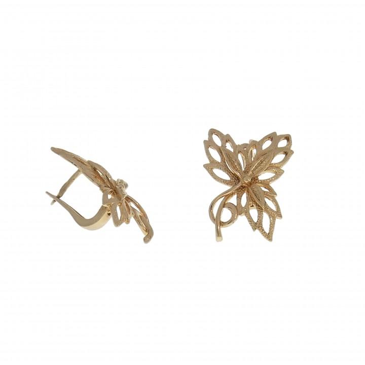 Золотые серьги - цветок