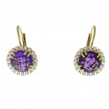 Earrings for woman, 14K yellow gold