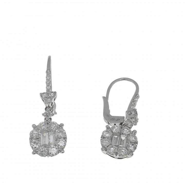 Серьги с бриллиантами 1.48 карат
