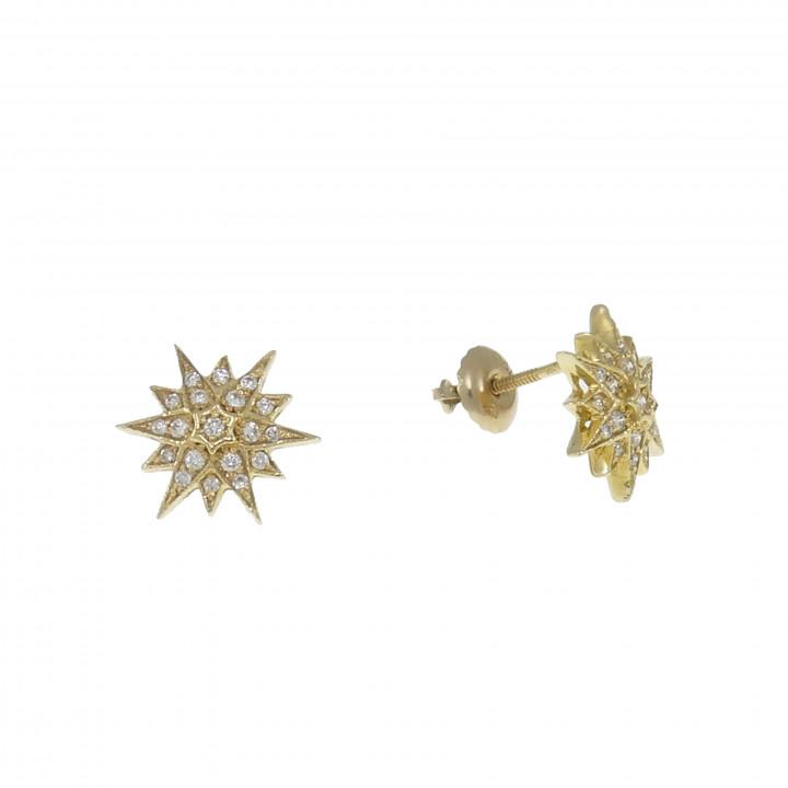 Серьги с бриллиантами - Вифлеемская звезда