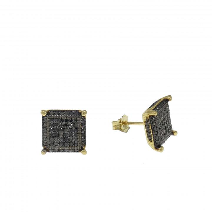 Квадратные серьги с бриллиантами