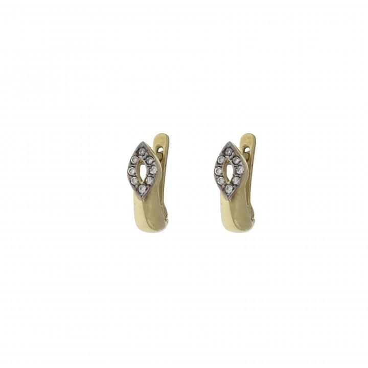 Серьги с бриллиантами 0.16 карат