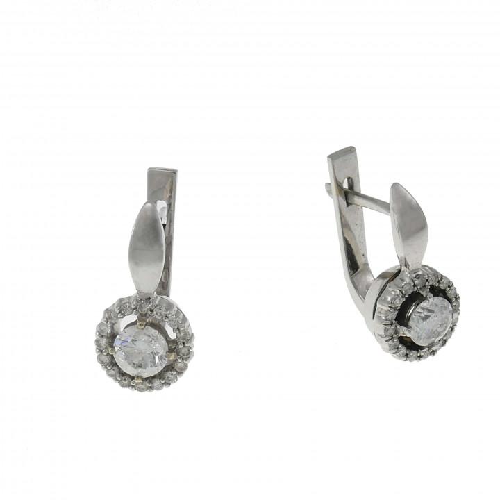 Женские серьги с бриллиантами