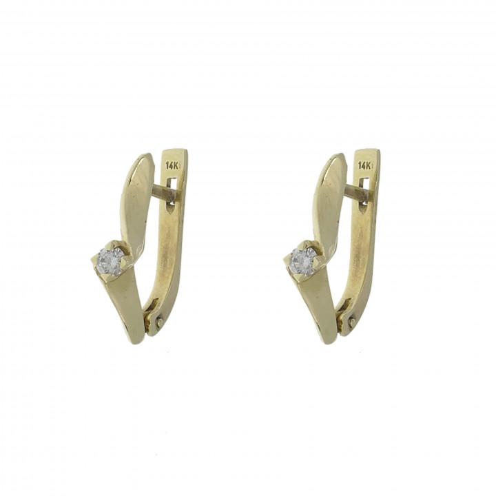 Женские серьги с бриллиантом 0.20 карат