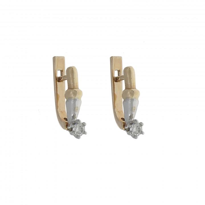 Женские серьги с бриллиантом 0.26 карат