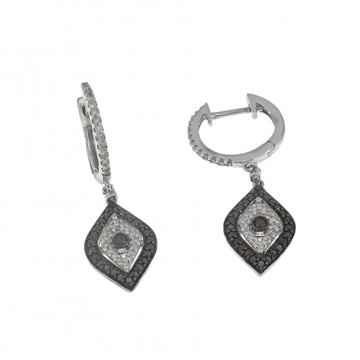 Серьги с бриллиантами 0.59 карата