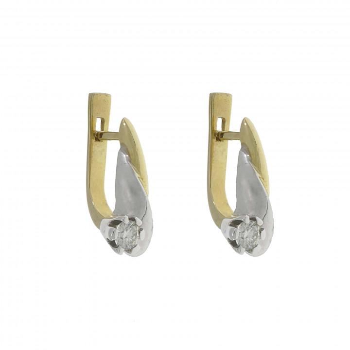 Женские серьги с бриллиантом 0.30 карат