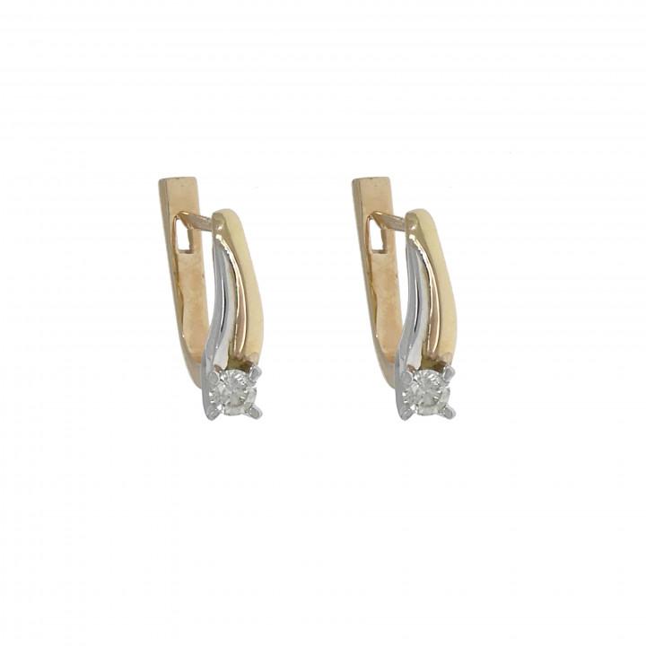 Женские серьги с бриллиантом 0.36 карат